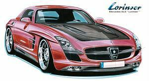Lorinser Mercedes SLS AMG Gullwing design sketch